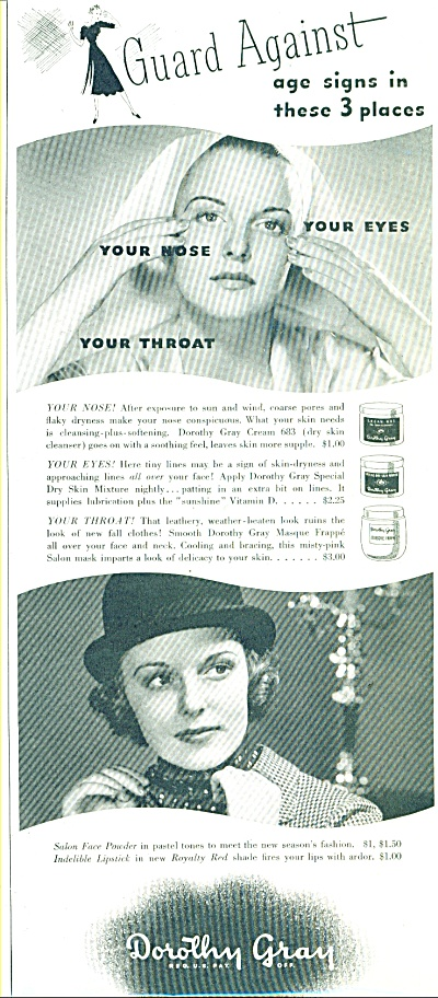 1937 Dorothy Gray Salons BEAUTY PRODUCTS (Image1)