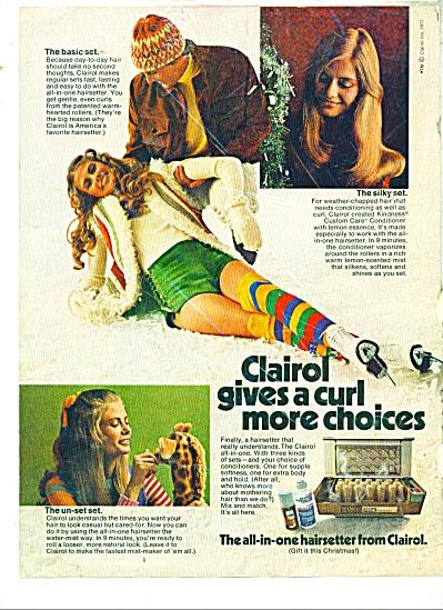 1971 CLAIROL HAIRSETTER AD Model SANDRA (Image1)