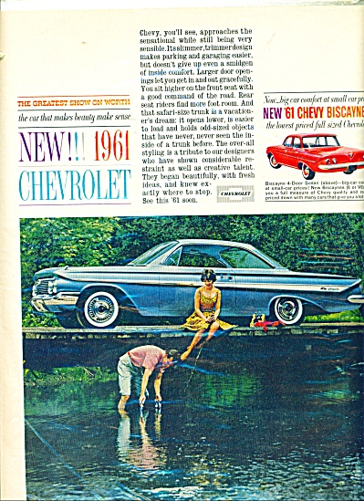 New Chevrolet Automobile For 1961 Ad