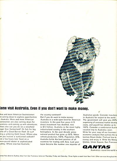 Quantas Australian airline ad - 1966 (Image1)