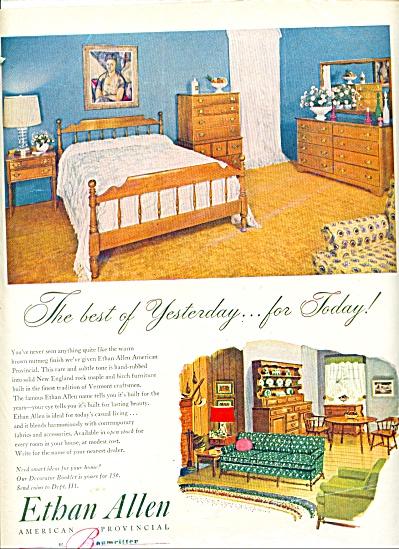 Ethan Allen furniture ad - 1952 (Image1)
