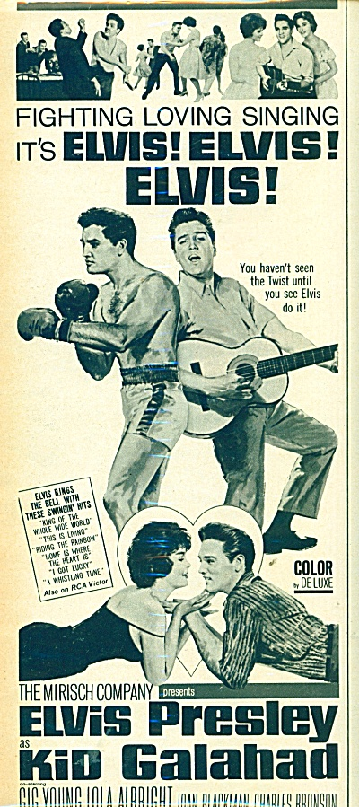 Movie Kid Galahad - ELVIS PRESLEY - 1962 ad (Image1)
