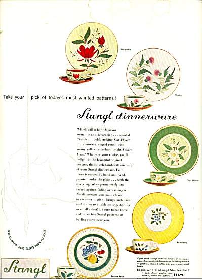 Stangl Dinnerware ad - 1952 (Image1)