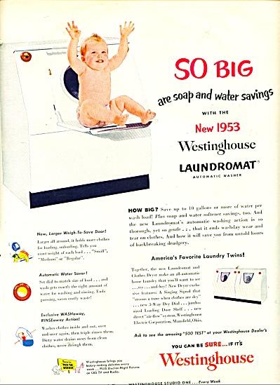 WEstinghouse Laundromat - new 1953 ad (Image1)