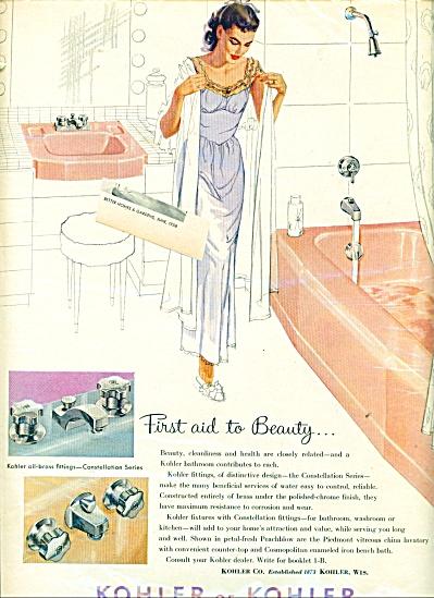 Kohler of Kohler plumbing fixtures ad (Image1)