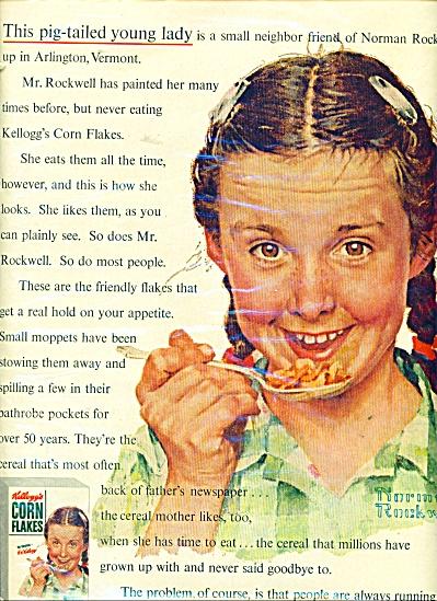 Kellogg's Corn Flakes ad - 1954 (Image1)