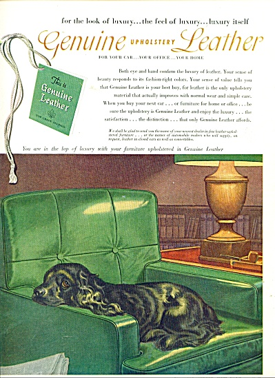 The Upholstery Leather Group Ad 1952