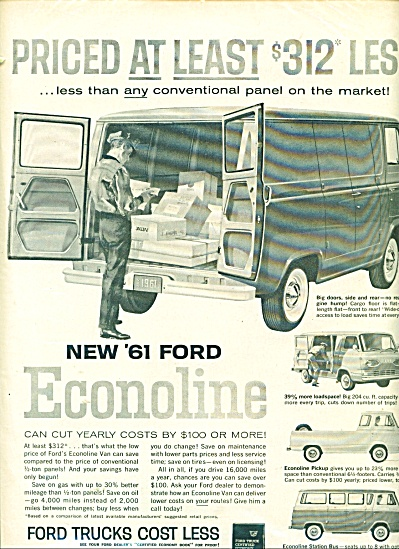 Ford Econoline Truck For 1961 Ad
