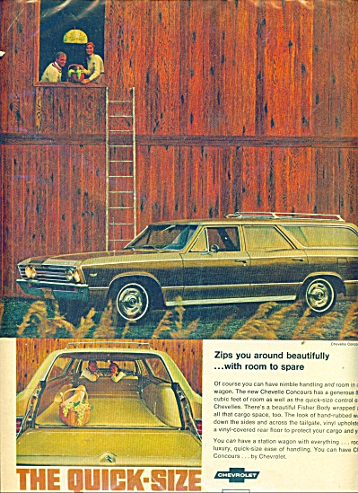 Chevelle automobile for 1967 ad (Image1)