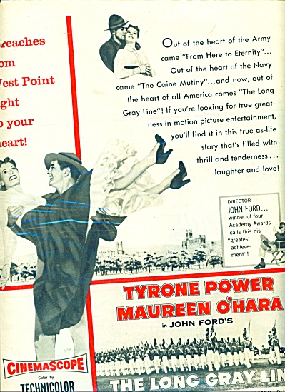 Moviead 1955 'the Long Gray Line' - Tyrone Power