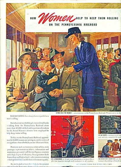 1944 Pennsylvania Railroad ad   HERBERT .... (Image1)