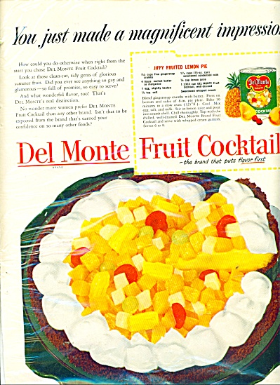 Del Monte Fruit cocktail ad - 1951 (Image1)