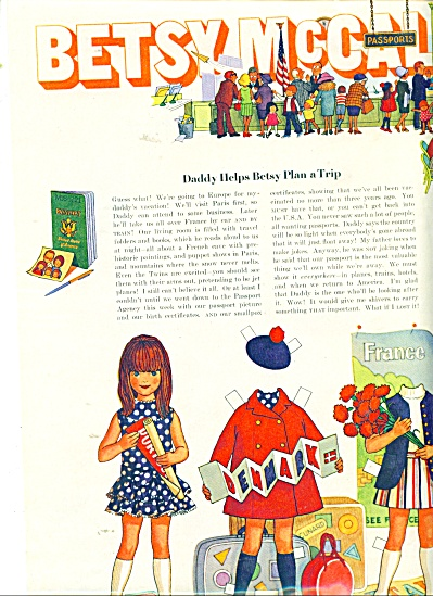 Betsy McCall doll and dresses ad (Image1)