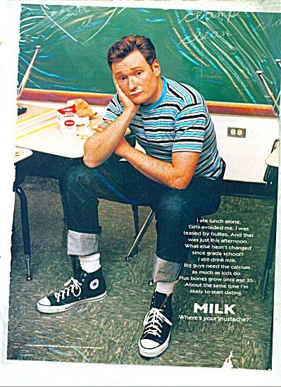 Milk mustache ad CONAN O BRIEN (Image1)