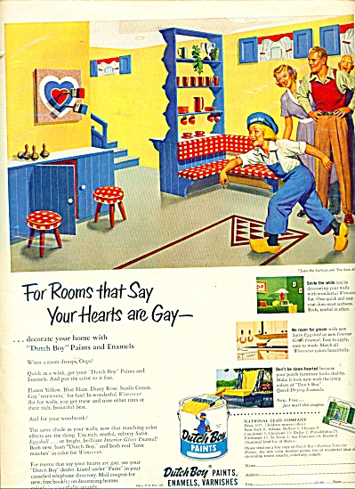 Dutch Paints, enamels, varnishes ad  - 1951 (Image1)