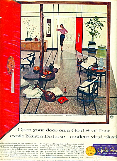 Gold Seal floors and walls ad - 1957 (Image1)