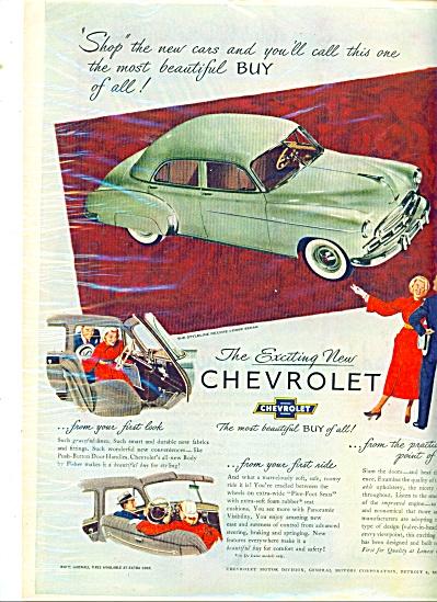 Chevrolet automobile  - 1949 ad (Image1)
