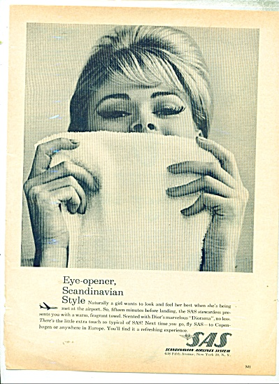 Scandinavian Airlines system ad - 1963 (Image1)