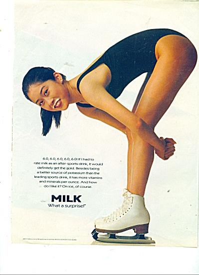 Milk moustache ad - kRISTI YAMAGUCHI - (Image1)