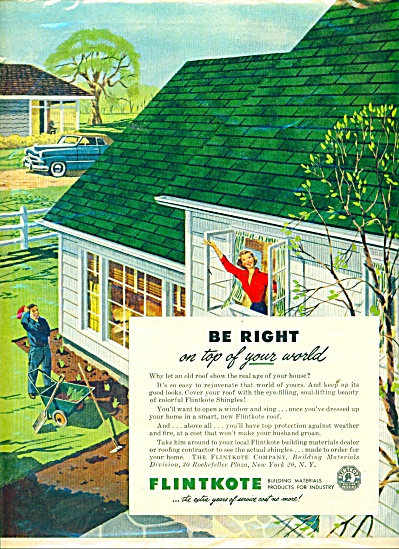 Flintkote building materials ad - 1952 (Image1)