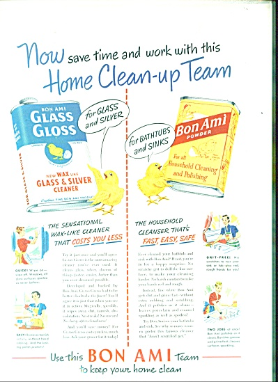 Bon Ami powder and cleaner ad (Image1)
