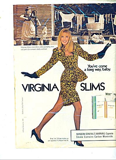 Virginia Slims cigarettes ad - 1988 FASHION AD (Image1)