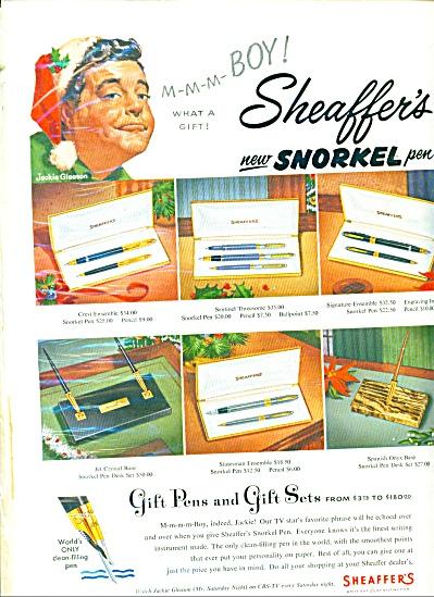 Sheaffer's   Pens - JACKIE GLEASON - ad (Image1)