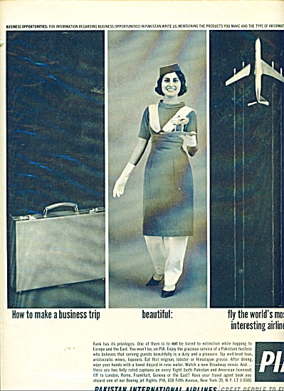 Pakistan International Airlies ad - 1962 (Image1)