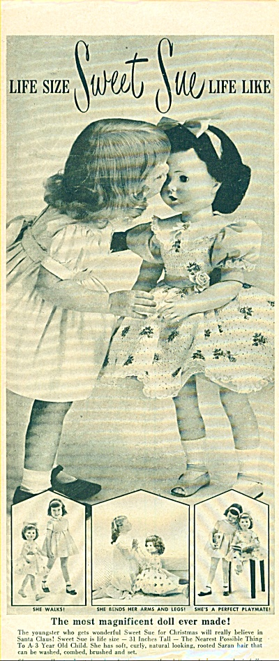 1950s American Character SWEET SUE DOLL AD (Image1)