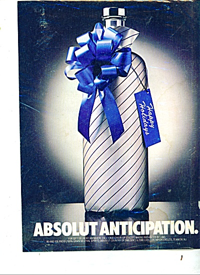 Absolut Vodka Anticipation Ad