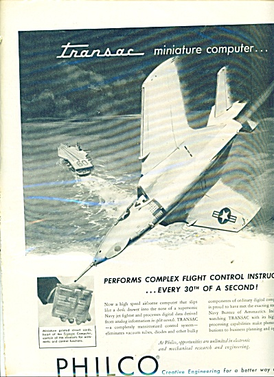 Philco Creative Engineering  Ad 1956 (Image1)