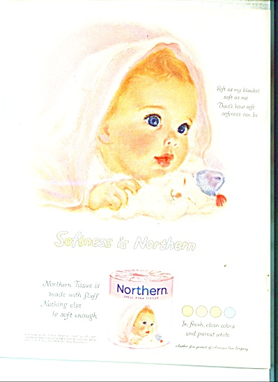 1956 Northern Tissue Baby Beautiful Ad