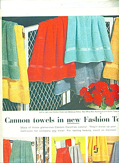 Cannon Towels ad - 1956 (Image1)