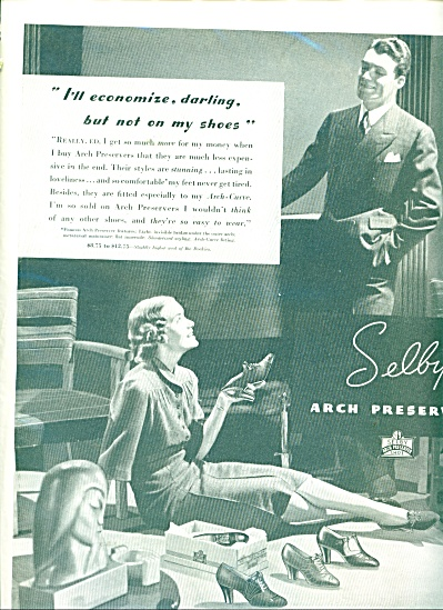 1937 Selby Arch Preserver AD Woman Economize (Image1)