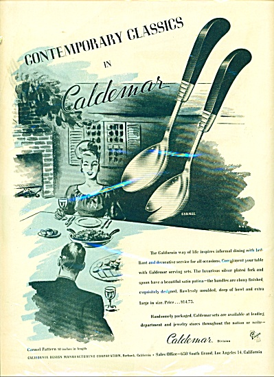 Caldemar division silverware ad 1946 (Image1)