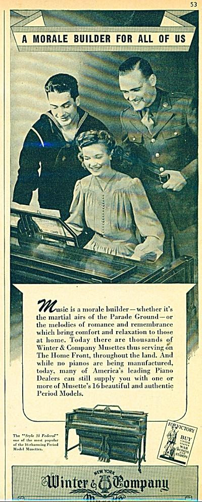 Winter & Company Musette ad - 1943 (Image1)
