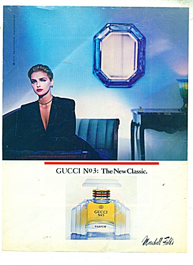 Gucci No. 3 Parfum By Marshall Field's Ad
