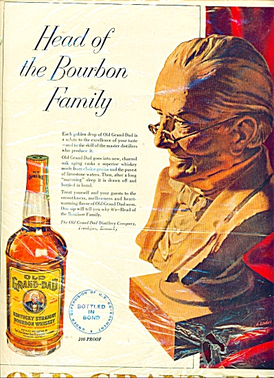 Old Grand-dad Bourbon Whiskey Ad