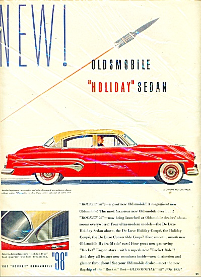 1951 Oldsmobile Holiday Sedan CAR AD (Image1)