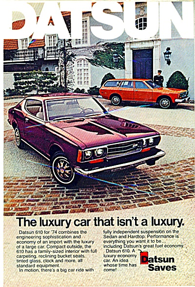 Datsun automobile ad  - 1974 610 CAR (Image1)