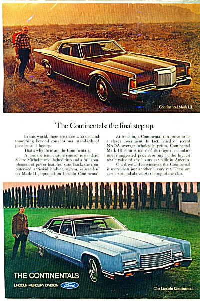 Lincoln Continental automobile ad (Image1)