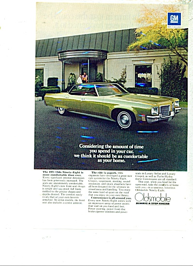 Oldsmobile Ninety Eight for 1971 ad (Image1)