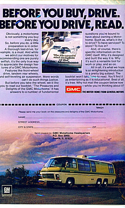 GMC Motorhome ad - 1978 (Image1)