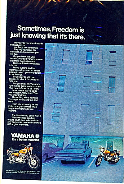 Yamaha motorcycles ad -  1971 (Image1)