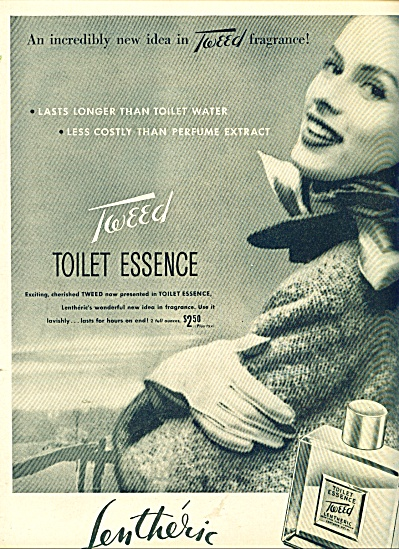 Tweed Lentheric toilet essence ad (Image1)