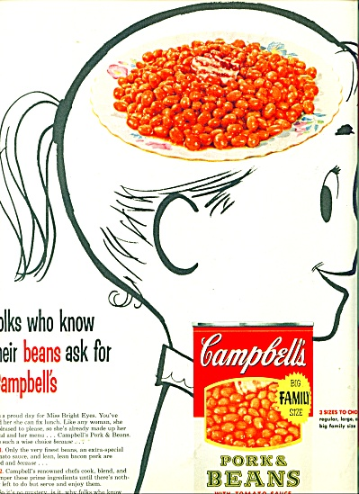 Campbell's Port & Beans Ad - 1955
