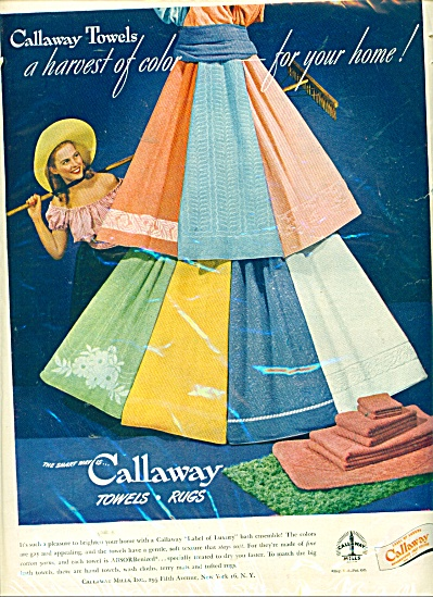 Callaway towels - rugs ad (Image1)