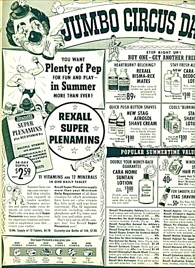 Rexall Drugs Jumbo circus days ad (Image1)