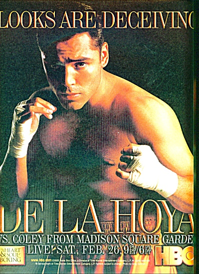 Oscar DeLalHoya Vs. Coley fight ad =2000 (Image1)