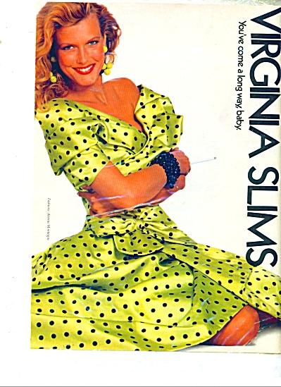 Virginia Slims cigarettes ad AVENUE MONTAGNE (Image1)